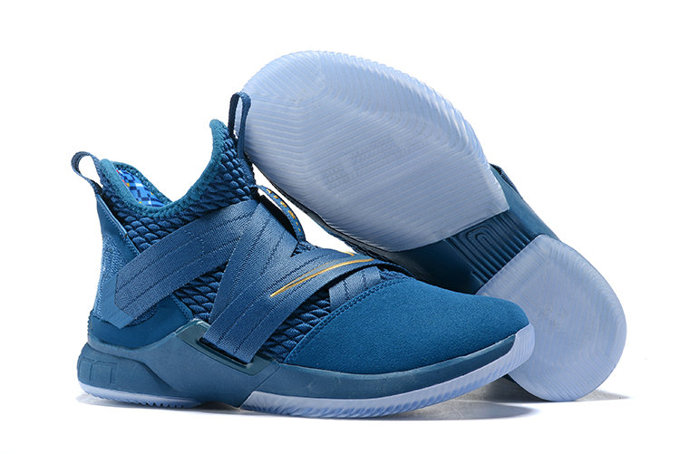 Cheap Lebron Soldier 12 Blue Golden