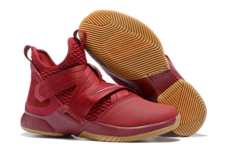 Cheap Lebron Soldier 12 Wine Red Gold