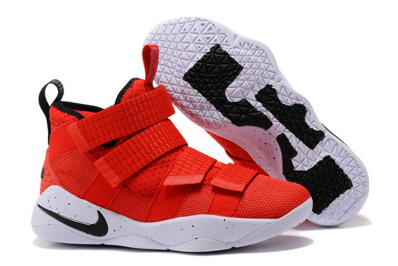 Cheap Lebron Soldier Nike Lebron Soldier 11 Grey Black Gold Red White Black On VaporMaxRunning