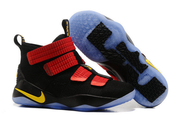 Cheap Lebron Soldier Nike Lebron Soldier 11 Red Black Yellow On VaporMaxRunning