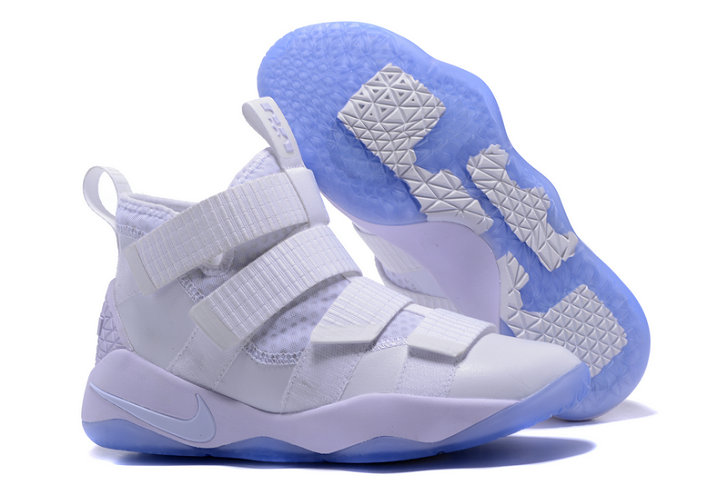 Cheap Lebron Soldier Nike Lebron Soldier 11 White Blue On VaporMaxRunning