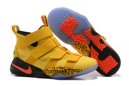 Cheap Lebron Soldier Nike Lebron Soldier 11 Yellow Orange Black On VaporMaxRunning