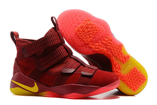 Cheap Lebron Soldier Nike Lebron Soldier 11 Yellow Red Orange On VaporMaxRunning