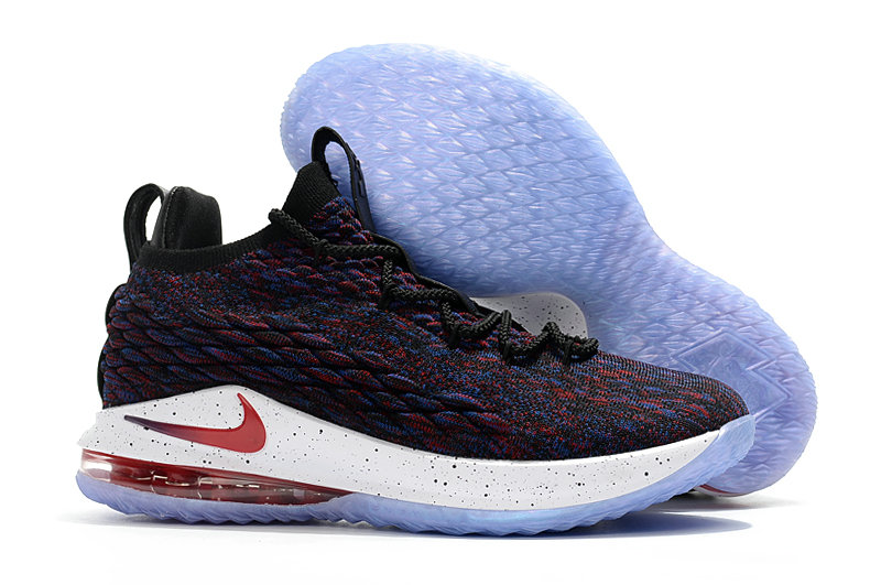 f853315f3bf8 Cheap Lebrons Nike Lebron 15 Low Wine Red Blue White On VaporMaxRunning