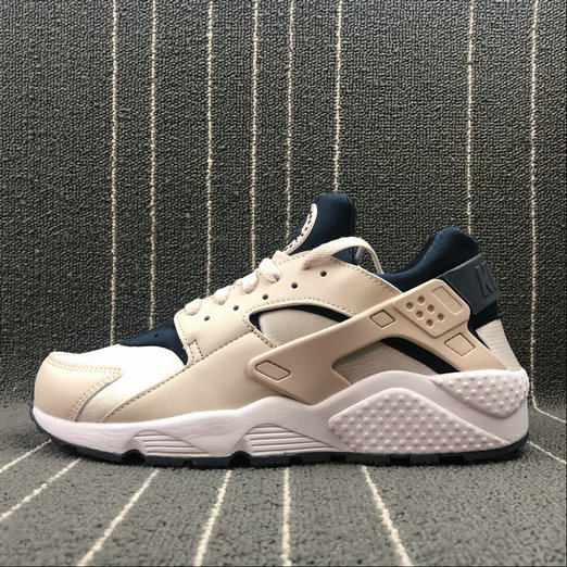 Cheap NIKE Air Huarache Run 634835-114 LT Orewood Brn Armory Navy