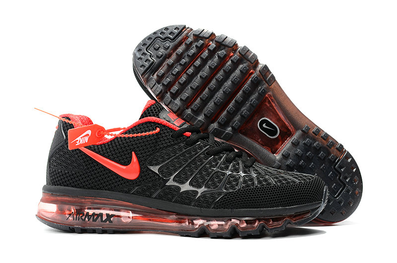 Cheap Newest Nike Air Max 2017 Mens Black Fire Red On VaporMaxRunning