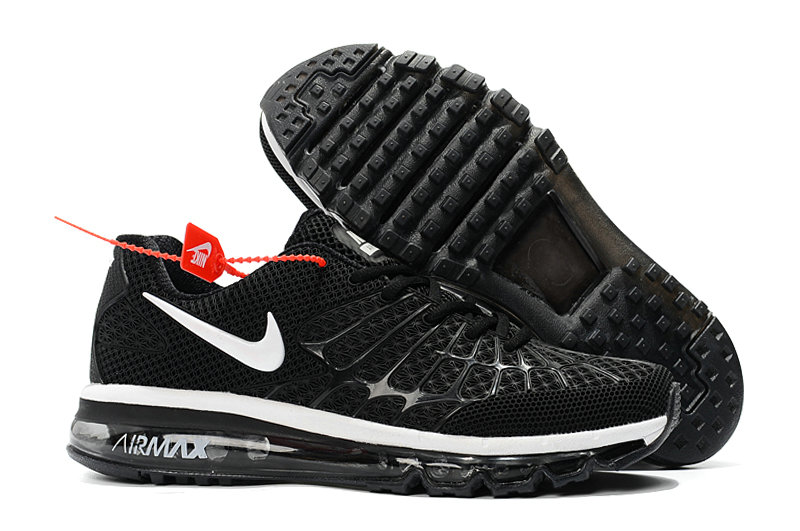 Cheap Newest Nike Air Max 2017 Mens Black White On VaporMaxRunning