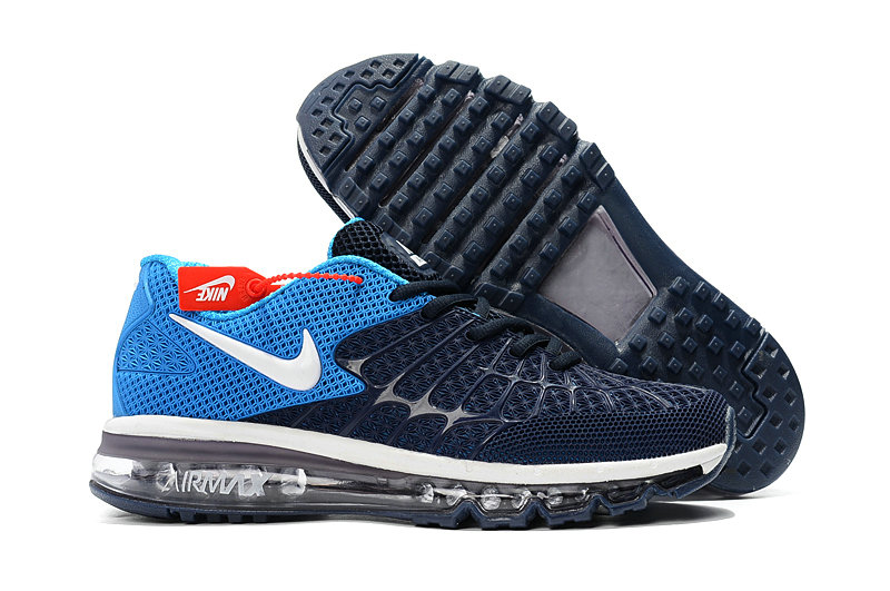 Cheap Newest Nike Air Max 2017 Mens Navy Baby Blue On VaporMaxRunning