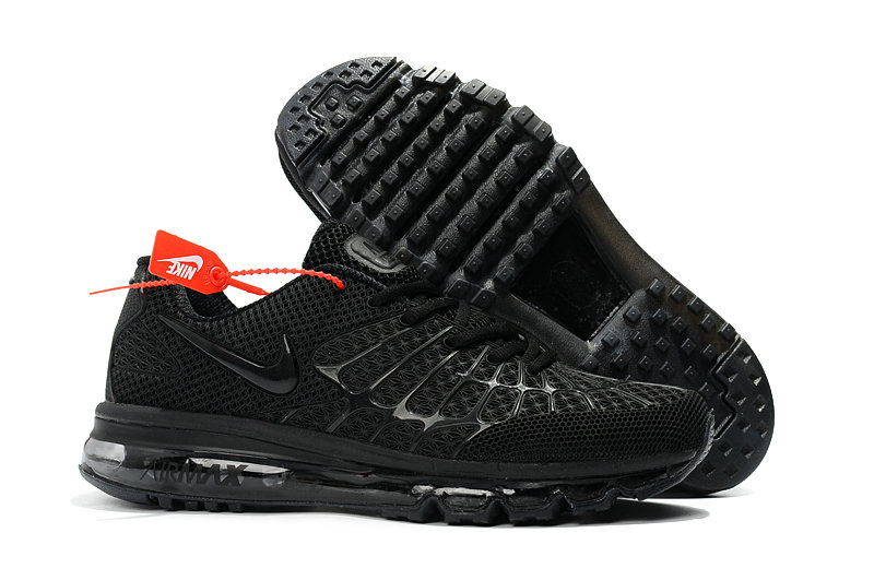 Cheap Newest Nike Air Max 2017 Mens Triple Black On VaporMaxRunning