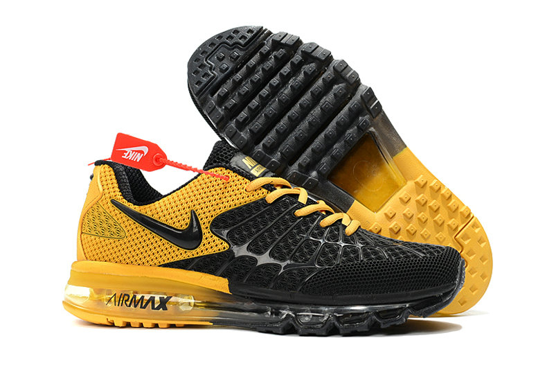 Cheap Newest Nike Air Max 2017 Mens Yellow Black On VaporMaxRunning