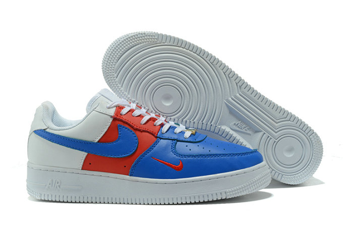 Cheap Nike AF1 Mens Nike Air Force One White Blue Red On VaporMaxRunning
