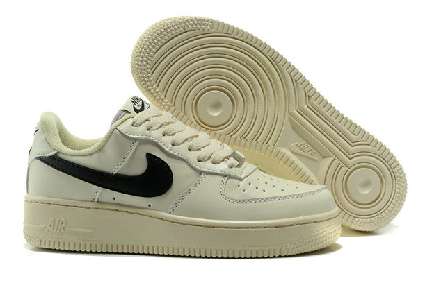 Cheap Nike AF1 Womens Nike Air Force One Cream Black On VaporMaxRunning