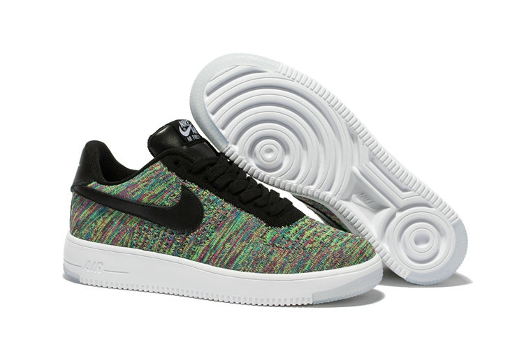 New 2018 Nike AF1 Cheap x Nike Air Force 1 Ultra Flyknit Low in Black Multicolor On VaporMaxRunning