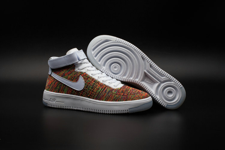 New 2018 Nike AF1 Cheap x Nike Air Force One Ultra Flyknit Mid Multicolor On VaporMaxRunning