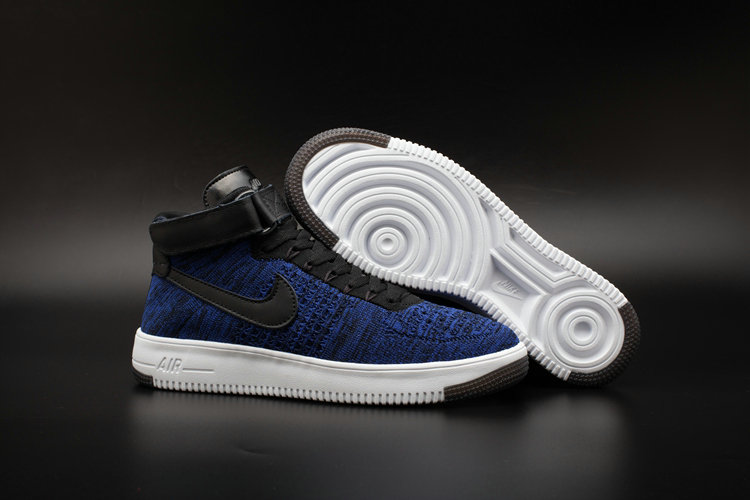 New 2018 Nike AF1 Cheap x Nike Air Force One Ultra Flyknit Mid Obsidian On VaporMaxRunning