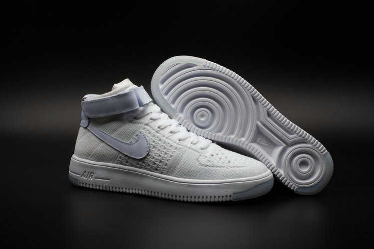 New 2018 Nike AF1 Cheap x Nike Air Force One Ultra Flyknit Mid White On VaporMaxRunning