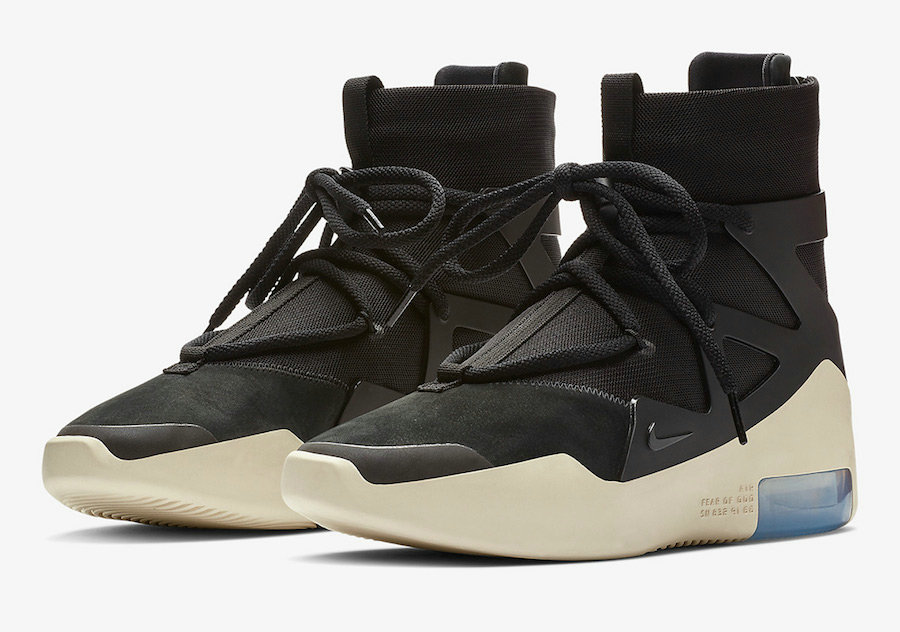Cheap Nike Air Fear of God 1 Black-Black AR4237-001 On VaporMaxRunning