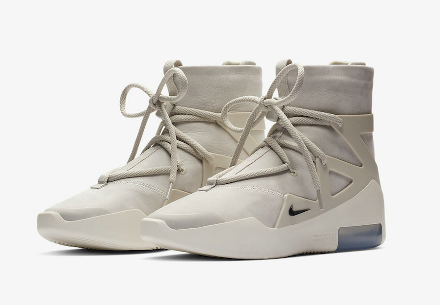 Cheap Nike Air Fear of God 1 Light Bone Black AR4237-002 On VaporMaxRunning