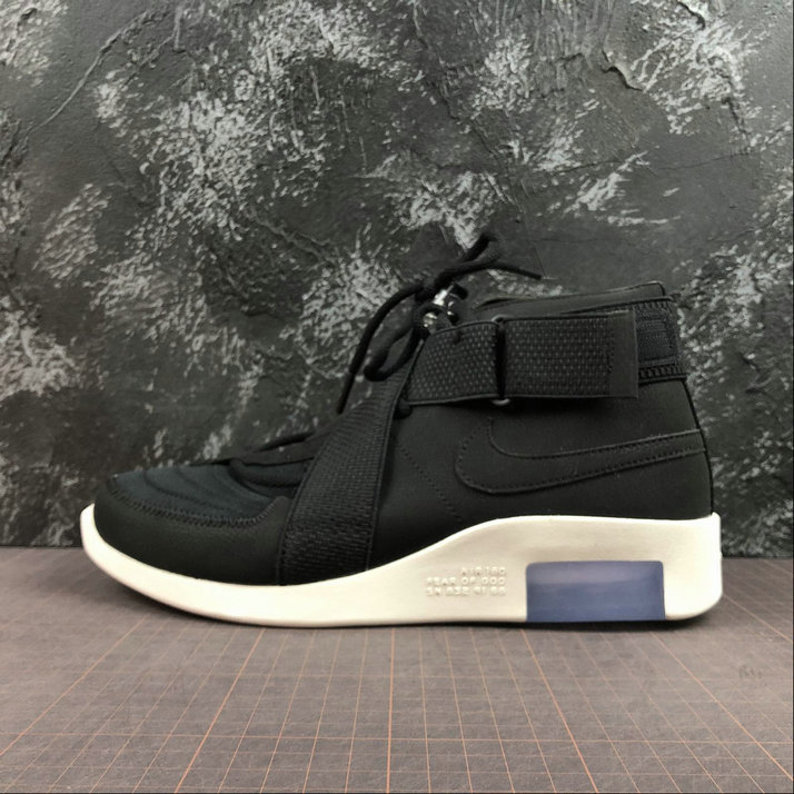 Cheap Nike Air Fear of God 180 Black-Black-Fossil AT8087-002 On VaporMaxRunning
