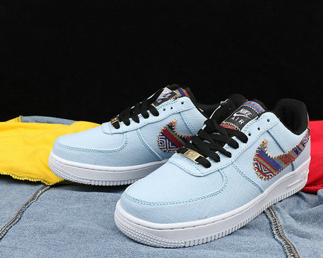 Cheap Nike Air Force 1 Cowboy national style Mens Blue White Black On VaporMaxRunning
