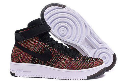 Cheap Nike Air Force 1 Flyknit High  Black Colorful White On VaporMaxRunning