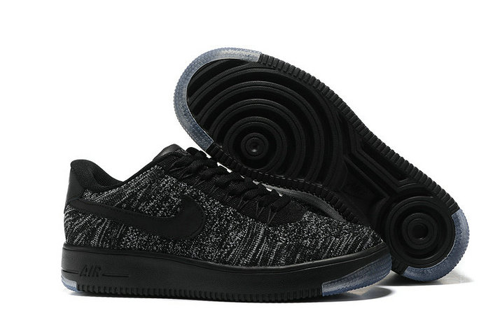Cheap Nike Air Force 1 Flyknit Womens Black Grey On VaporMaxRunning