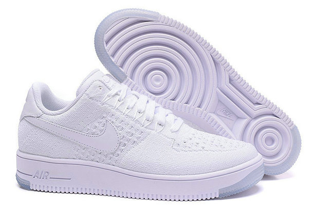 Cheap Nike Air Force 1 Low Flyknit Womens All White On VaporMaxRunning