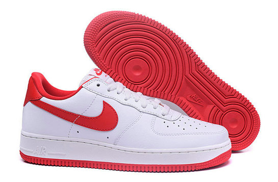 Cheap Nike Air Force 1 Low Womens Fire Red White On VaporMaxRunning