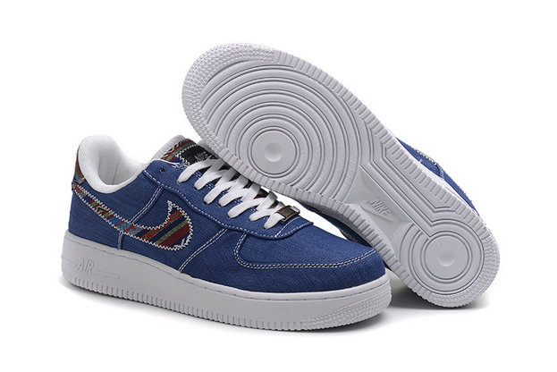 various colors 0ee2f 4ab53 Cheap Nike Air Force One Nike AF1 07 Mens Blue White On VaporMaxRunning