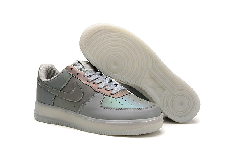 Cheap Nike Air Force One Nike AF1 07 Womens Grey Pink White On VaporMaxRunning