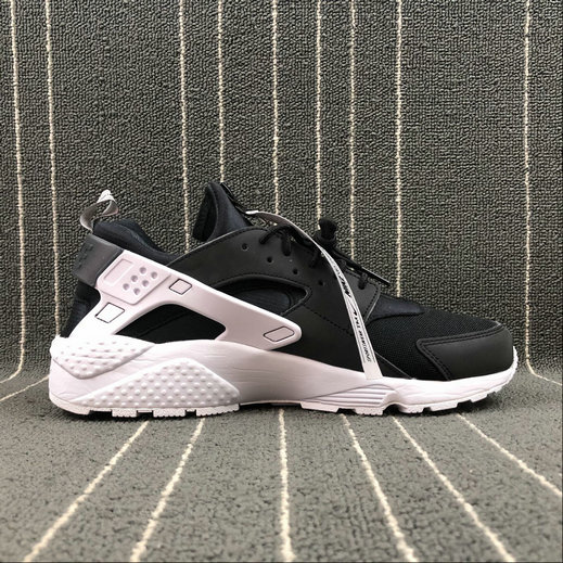 Cheap Nike Air Huarache Run AS ZIP QS BQ6164-001 Black White Noir Blanc