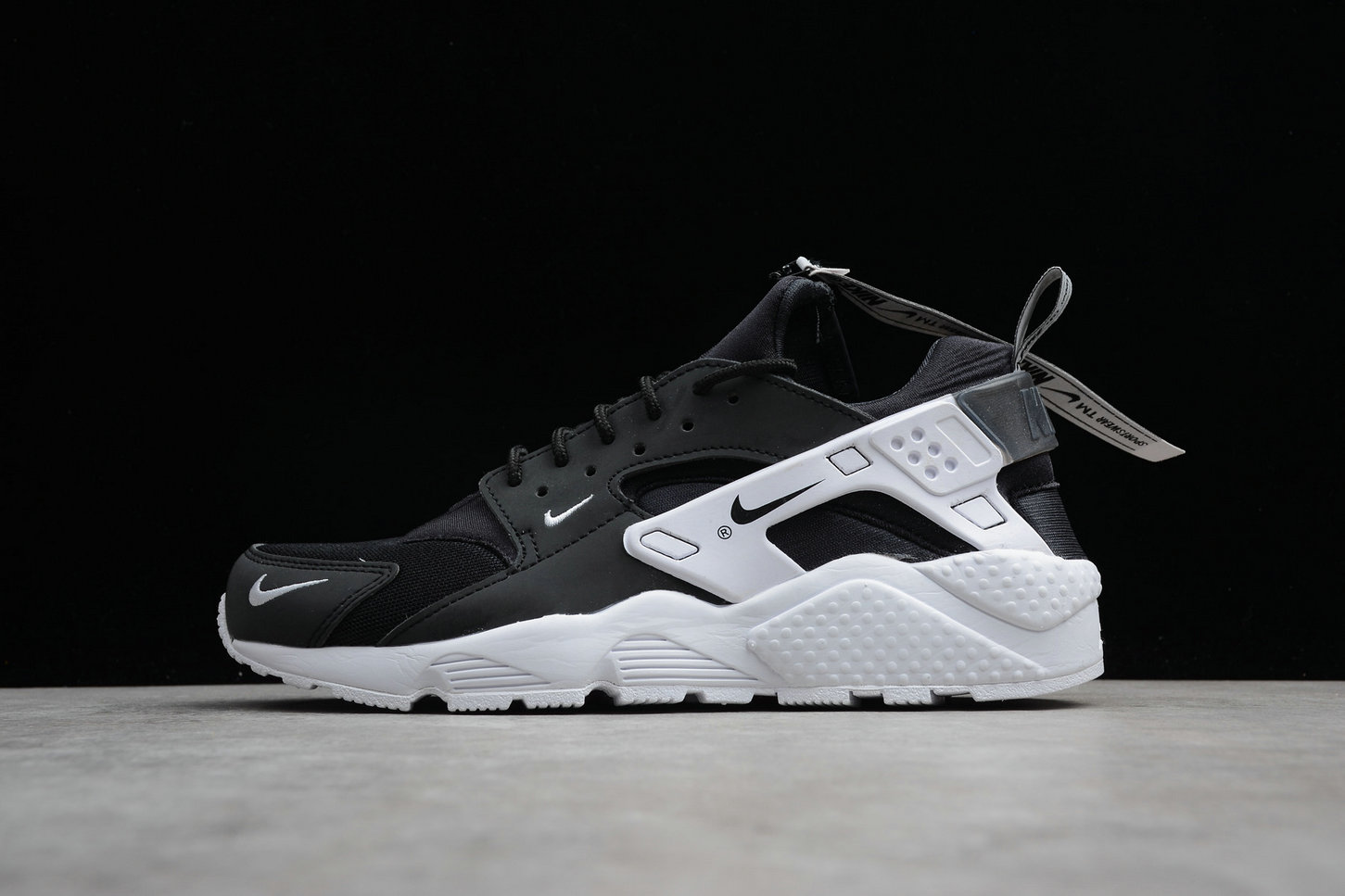 Cheap Nike Air Huarache Run ZIP QS BQ6164-001 Black White Noir Blanc