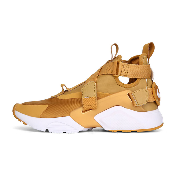 Cheap Nike Air Huarache Run iD Gold White On VaporMaxRunning