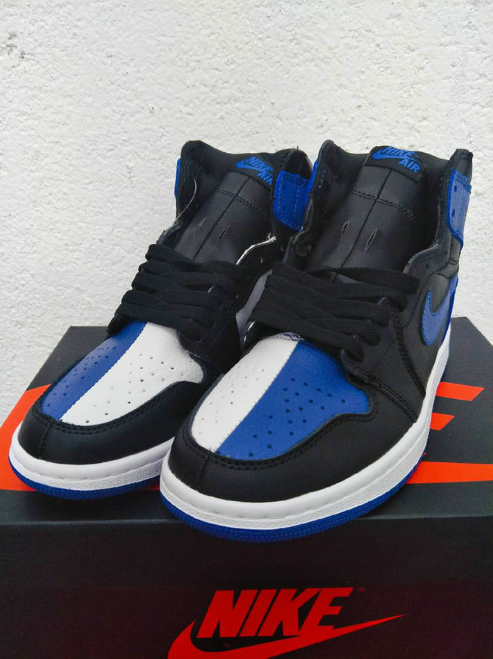 Cheap Nike Air Jordan 1 Rero High OG 555088-002 Black White Blue