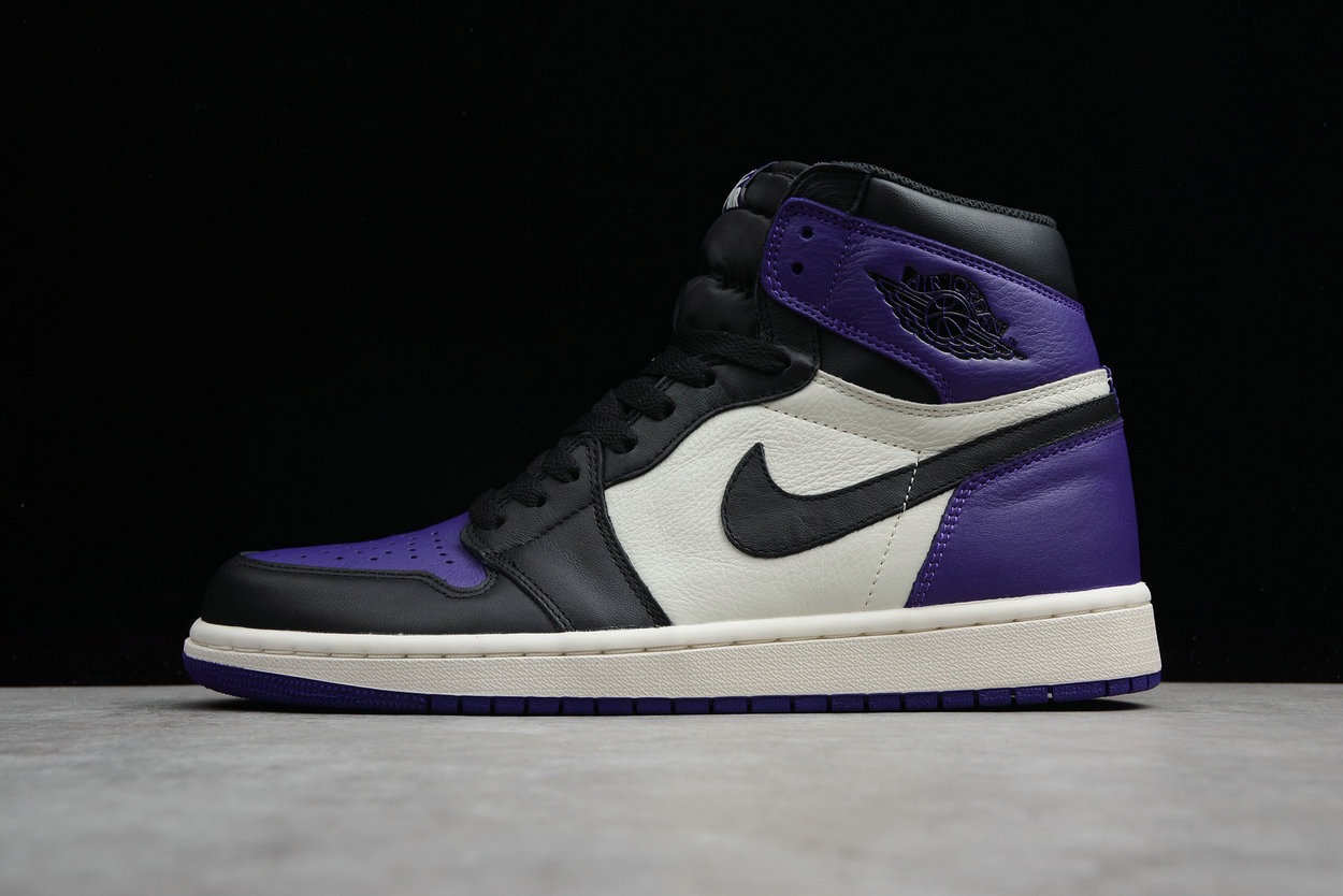 Cheap Nike Air Jordan 1 Retro High OG 555088-501 Court Purple Black Sail Violet