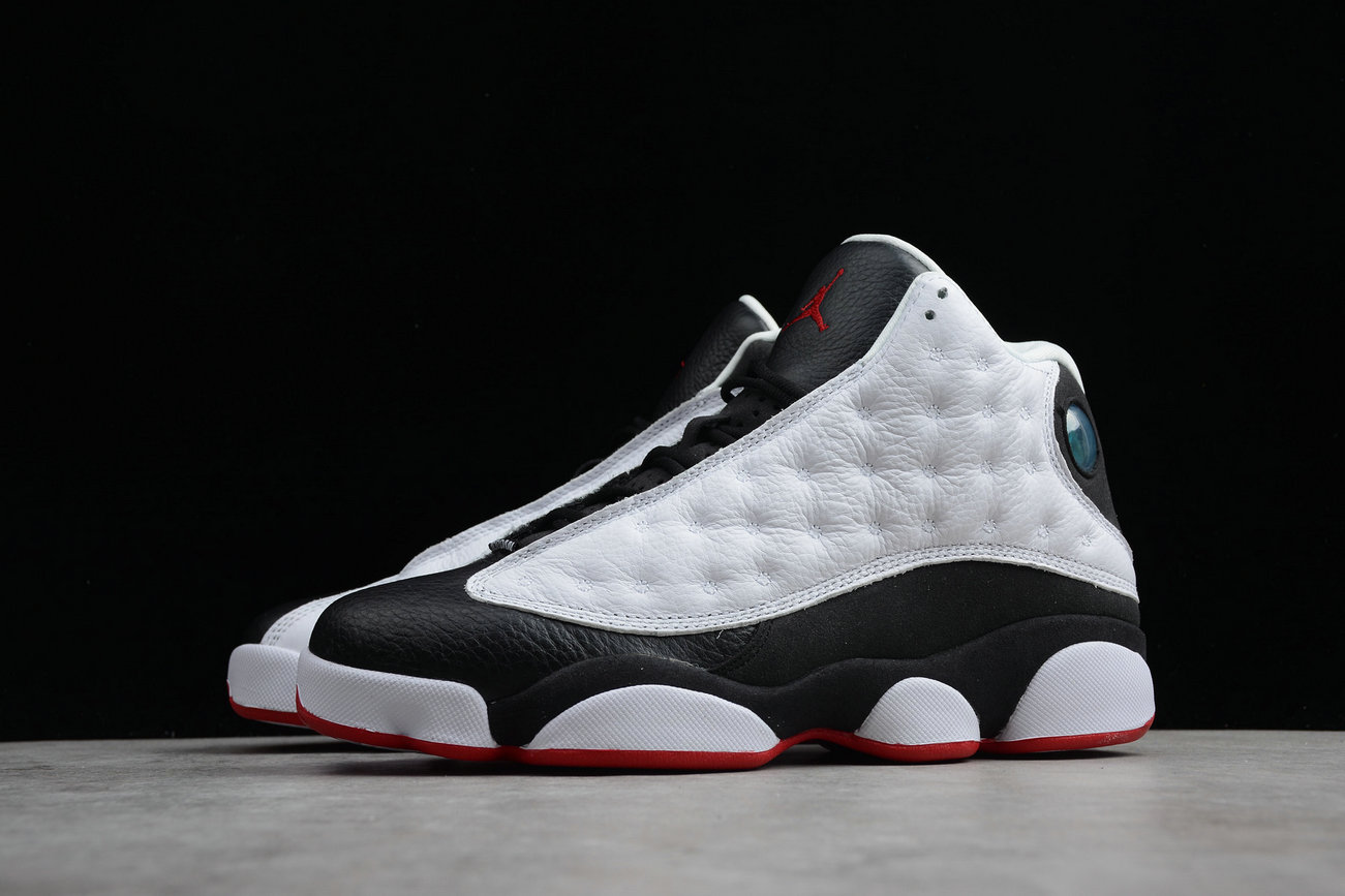 Cheap Nike Air Jordan 13 Retro 414571-104 White True Red Black Blanc Noir Vral Rouge