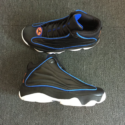 Cheap Nike Air Jordan 13.5 Pro Strong Black Blue Orange White