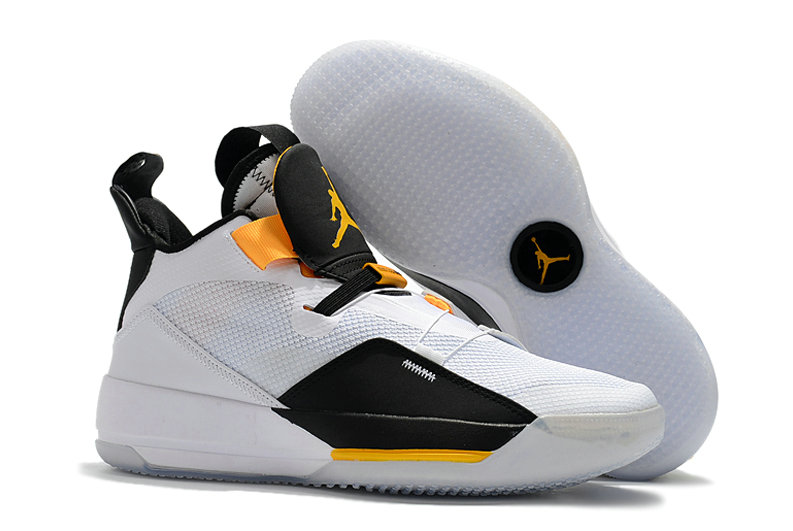 Cheap Nike Air Jordan 33 College PEs Yellow White Black On VaporMaxRunning