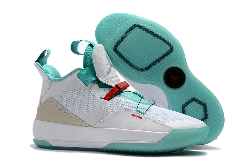 Cheap Nike Air Jordan 33 Guo Ailun PE White Jade-Red For Sale On VaporMaxRunning