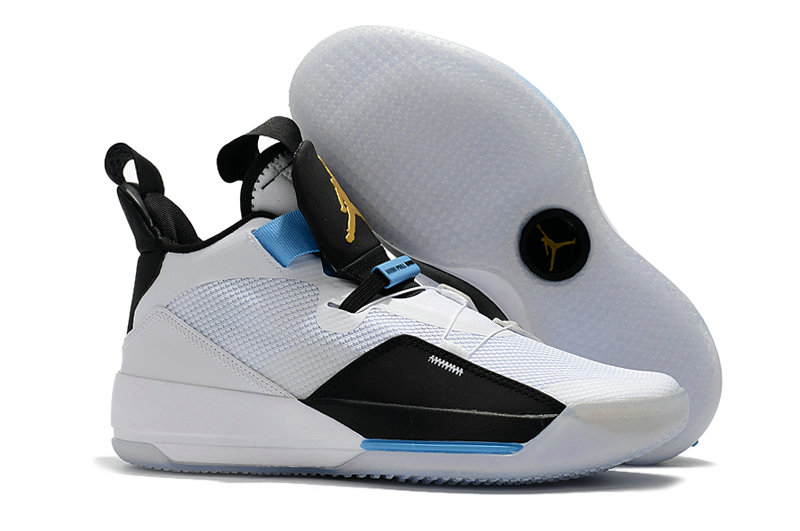 Cheap Nike Air Jordan 33 Mike Conley PE White Black-Blue For Sale On VaporMaxRunning