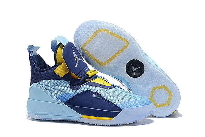 Cheap Nike Air Jordan 33 Mint Green Navy Blue-Yellow For Sale On VaporMaxRunning