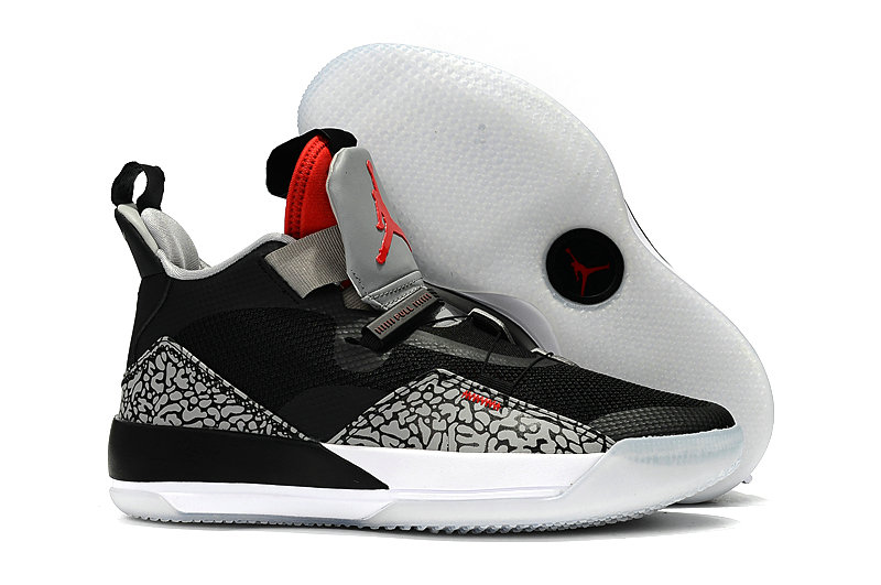 Cheap Nike Air Jordan 33 PEs Black Bred Grey White On VaporMaxRunning
