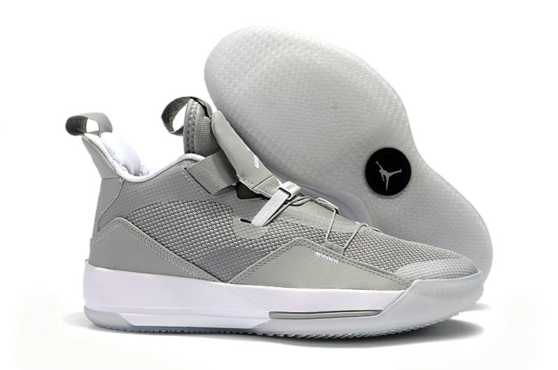 Cheap Nike Air Jordan 33 PEs Cool Grey White On VaporMaxRunning