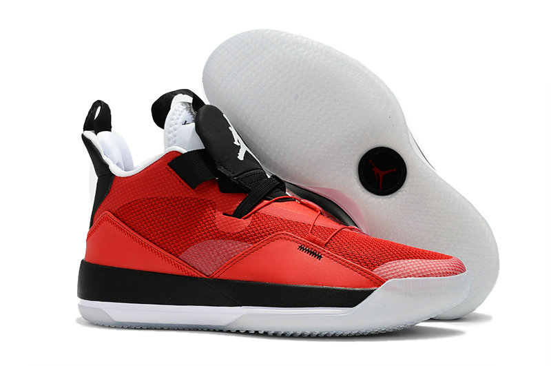 Cheap Nike Air Jordan 33 PEs University Red Black White On VaporMaxRunning