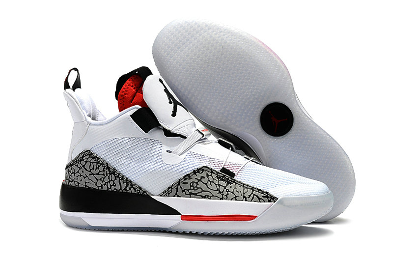 Cheap Nike Air Jordan 33 PEs White Grey Black Red On VaporMaxRunning
