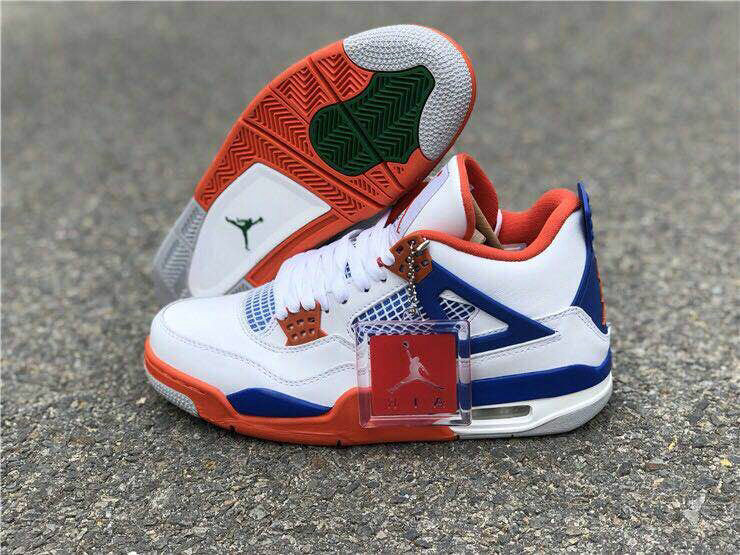Cheap Nike Air Jordan 4 Retro Fire Red 836011-001 Blue White Red