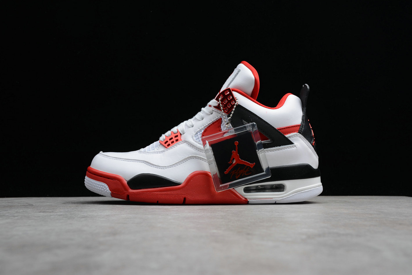 Cheap Nike Air Jordan 4 Retro Fire Red 836011-107 Han Yubai Black Campus Red Noir Rouge