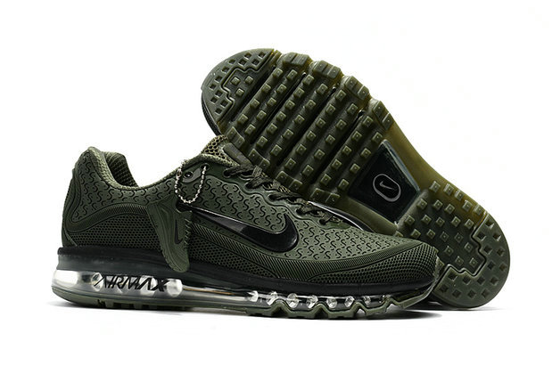 Cheap Nike Air Max 2017 Mens Rubber Patch Army Green Black On VaporMaxRunning