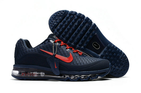 Cheap Nike Air Max 2017 Mens Rubber Patch Navy Blue Red On VaporMaxRunning