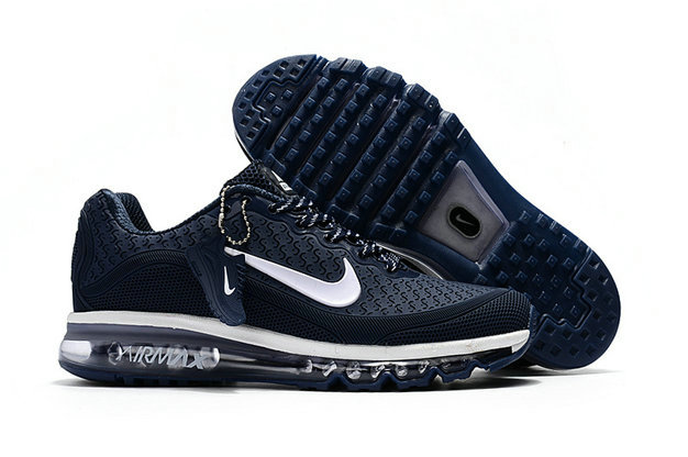 Cheap Nike Air Max 2017 Mens Rubber Patch Navy Blue White On VaporMaxRunning